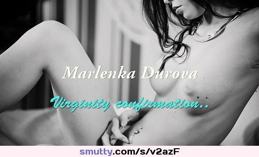 Marlenka Durova is a young horny virgin #defloration #virgin #hymen