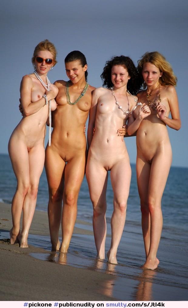 #PublicNudity #Beach #SmoothPussy #BaldCunts #Sluts
