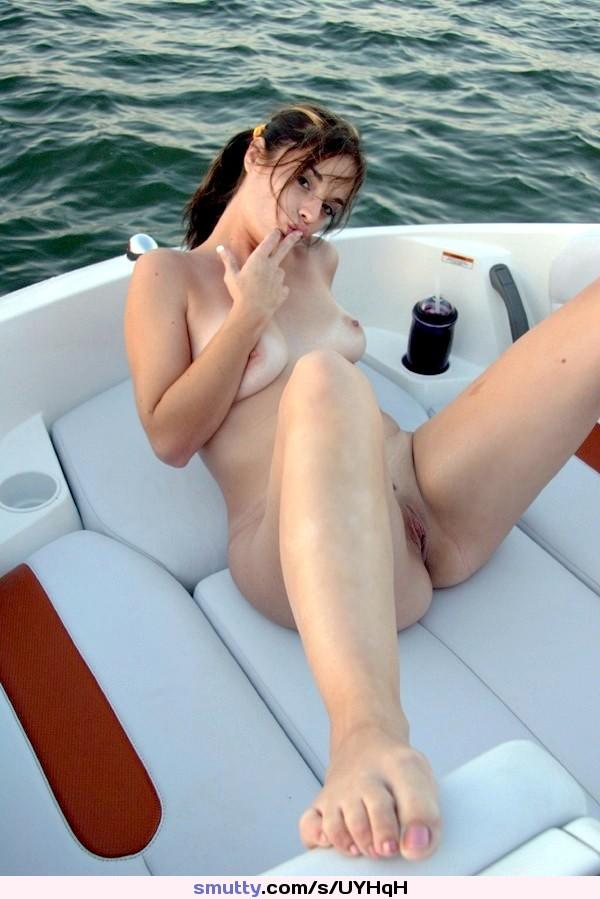 #naked #babe #boat