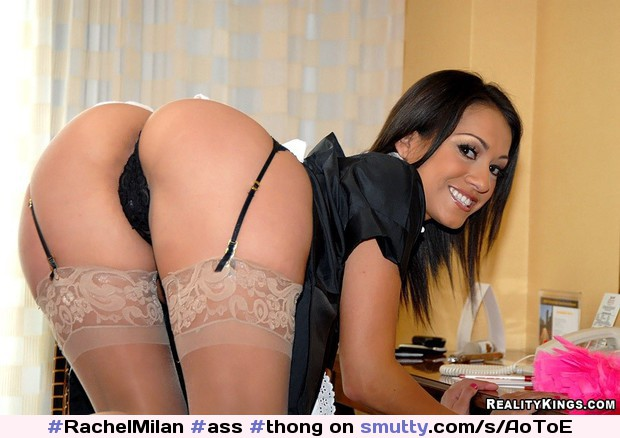 #RachelMilan #ass #thong #maid #latina #stockings #garterbeltandstockings #garter #bendingover #niceass #booty #inviting #smile