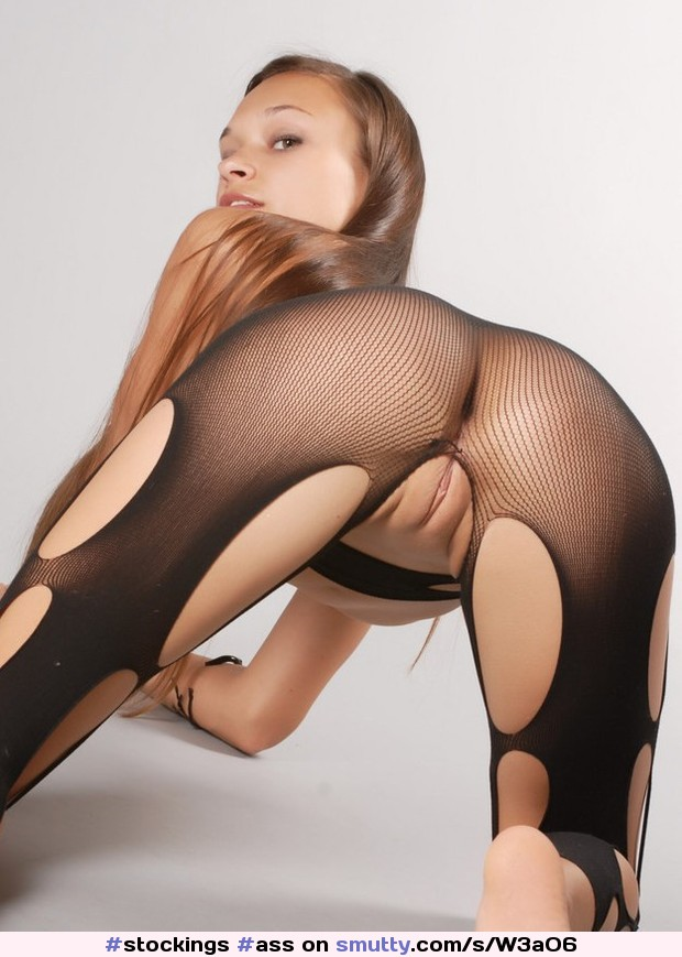 An image by: nevermore- - #ass #bodystocking #crotchless #fishnet ...