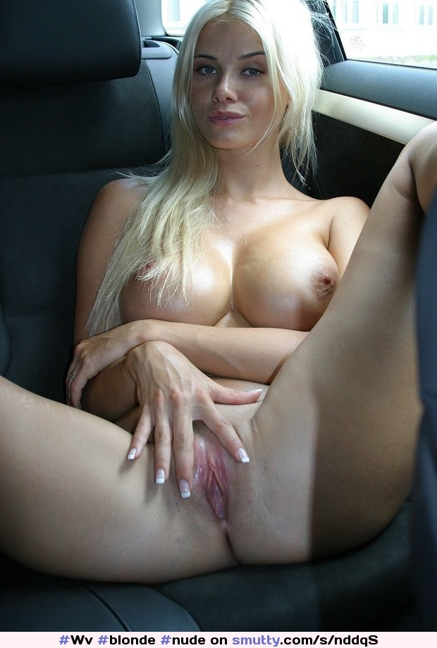 Above Nude girl in backseat of car what