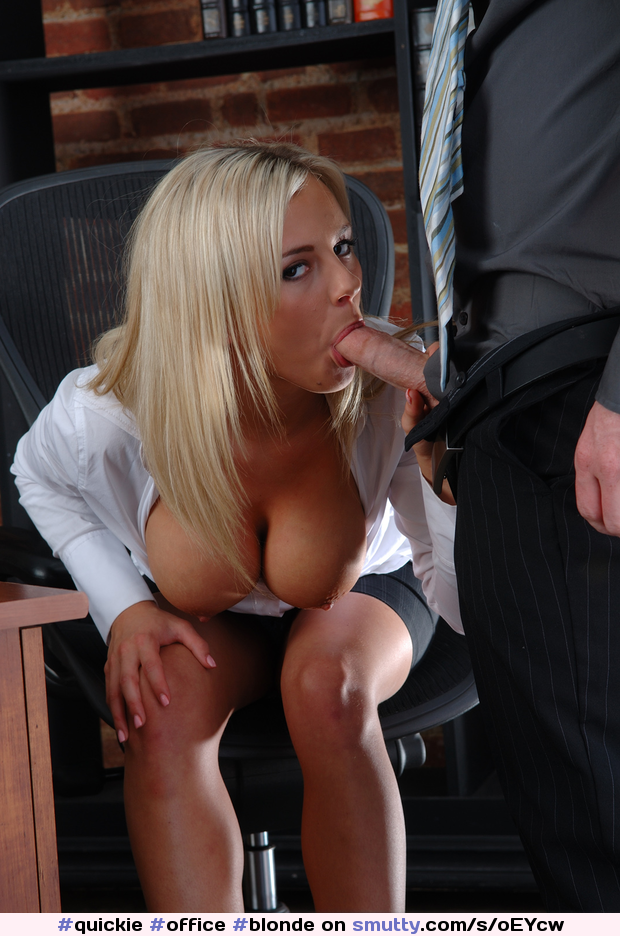 office blowjob Busty