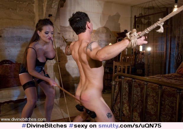 adult mistresses severely whip cane and spank disobeying male slaves