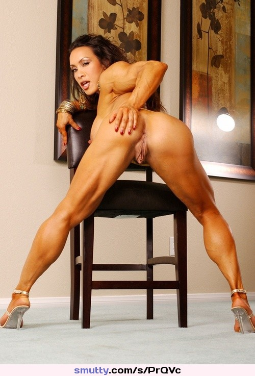 pussy over and ass Muscle women bent