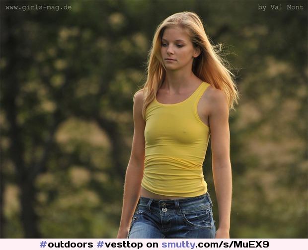 ... vesttop #braless #nobra #pokies #smalltits #cute smutty.com