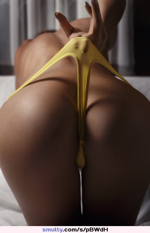 #bentover #thong #ass #yellowpanties #panties #bum