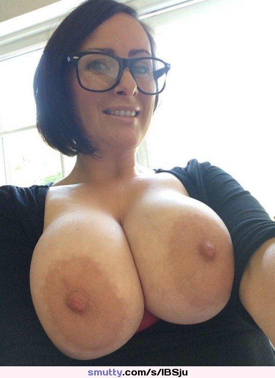 Busty Brunette Milf Glasses