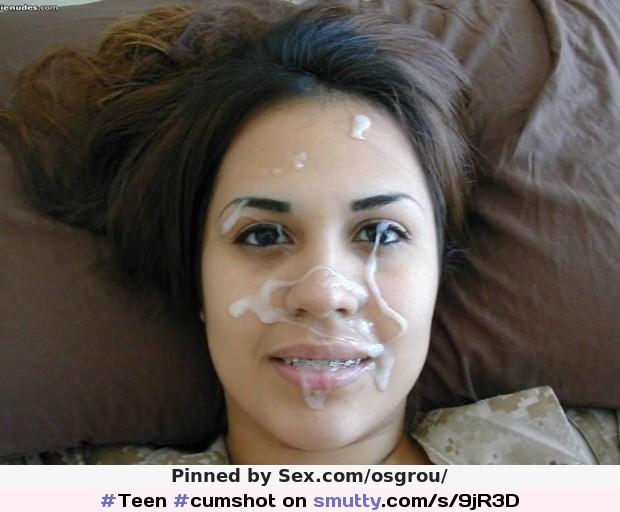 Black slut facial cum shots