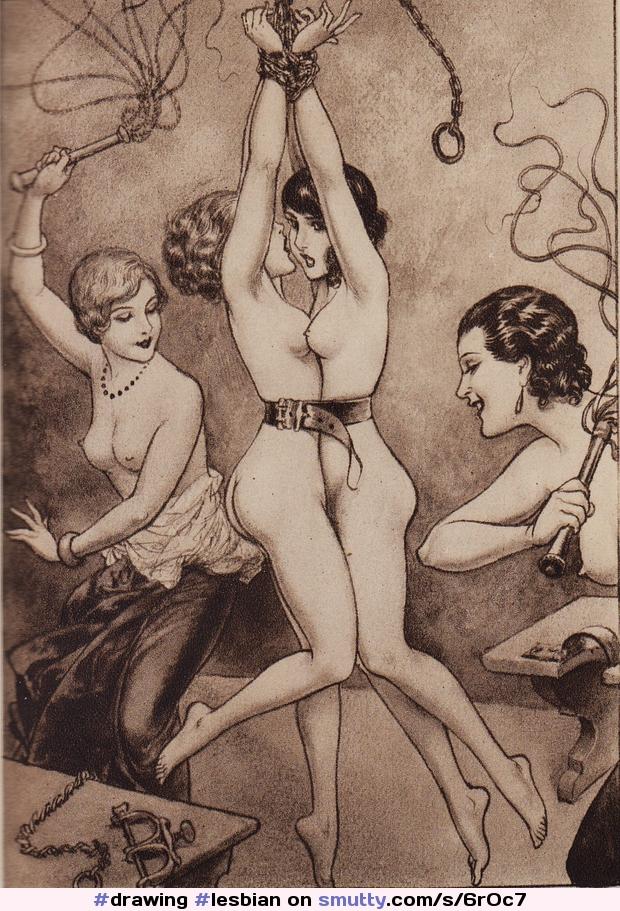#drawing #lesbian #lesbians #bondage #bdsm #lesdom #lezdom #nude #naked #submissive #submissivegirl #flogger #flogging #whip #whipping