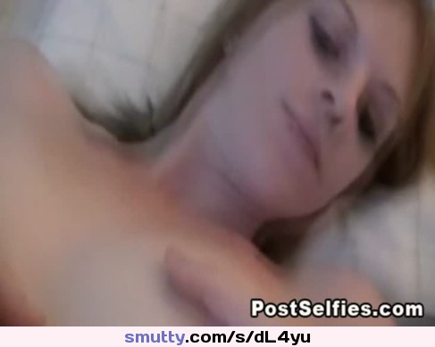 Solo Flawless Blonde Girl Masturbating Pussy