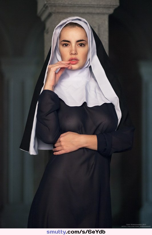 Hot nun takes priest dick in her ass and pussy 9