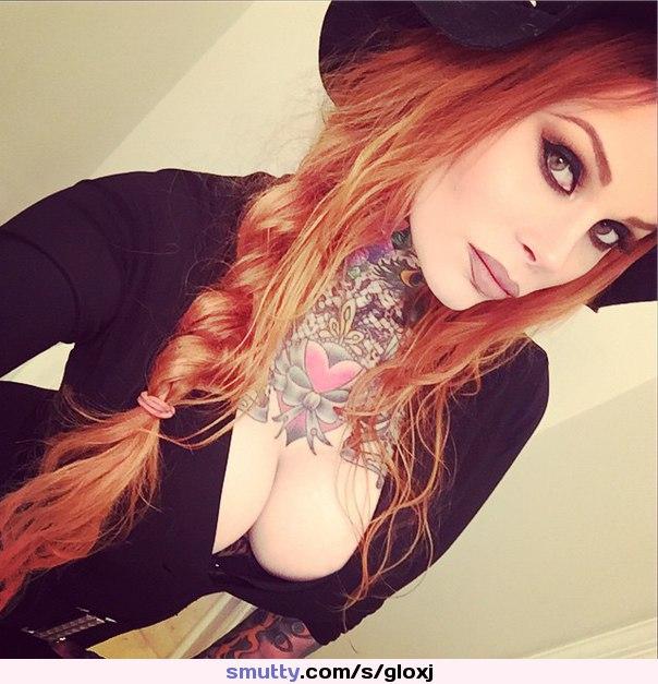 #redhead #nonnude #emo #tottoed #eyes #beautiful #erotic