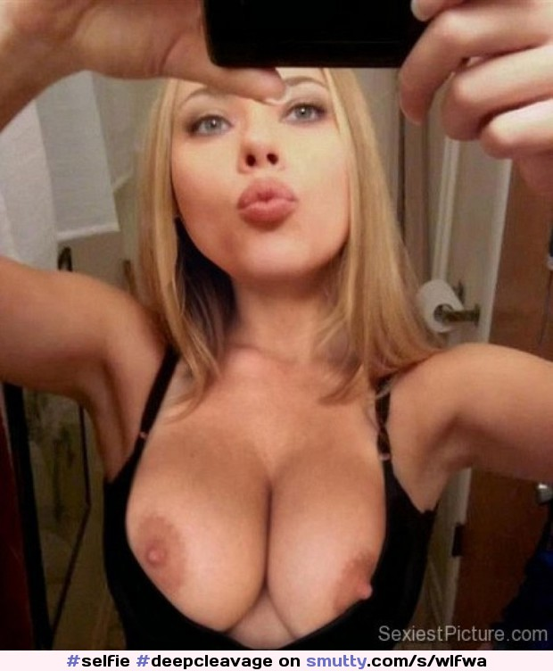 #selfie #deepcleavage #beautiful #erotic
