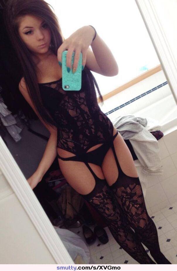 #teen #selfie #selfshot #lingerie #stockings #nn #nonnude #nonnudeteen #panty