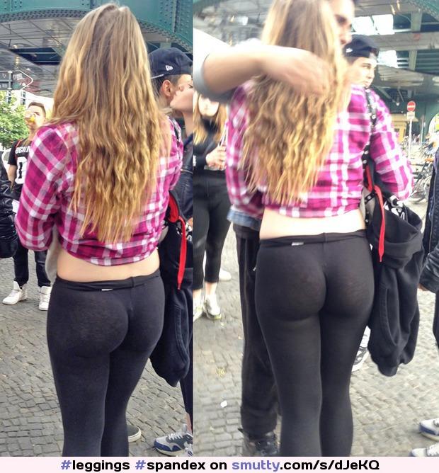 leggings spandex yogapants teen chav chavslut slut seethrough