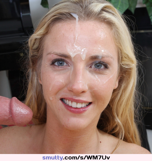 Blonde smiling cum facial wife amateur