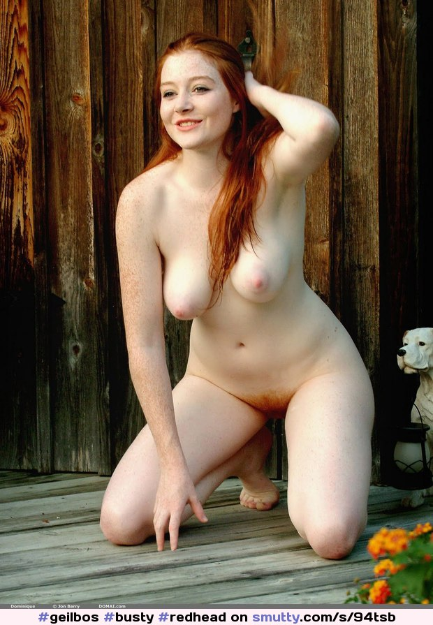 freckles Busty pale redhead
