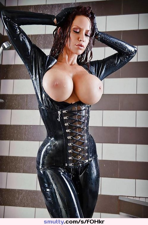 Sexy latex oiled grannies