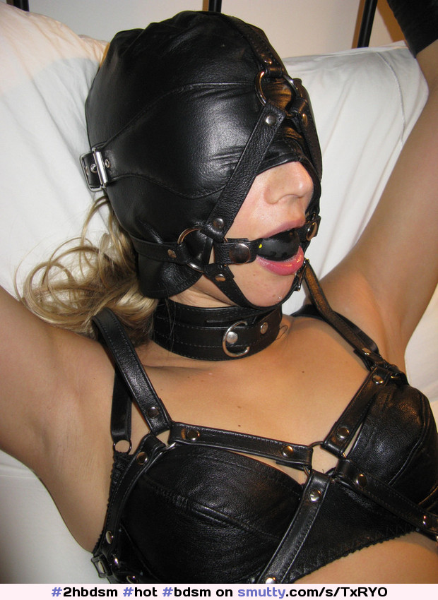 Bra kinky leather bondage