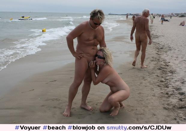 Public Beach Blowjob