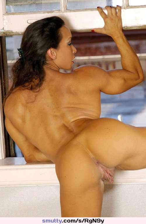 Nude female bodybuilder takes two loads and loves it 5