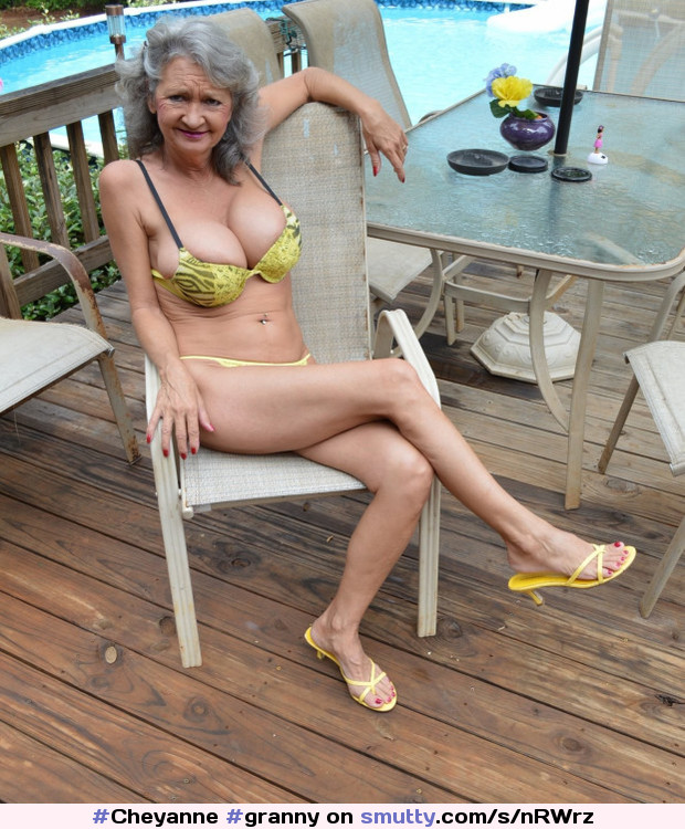 Silver hair cougar with young friend tmb