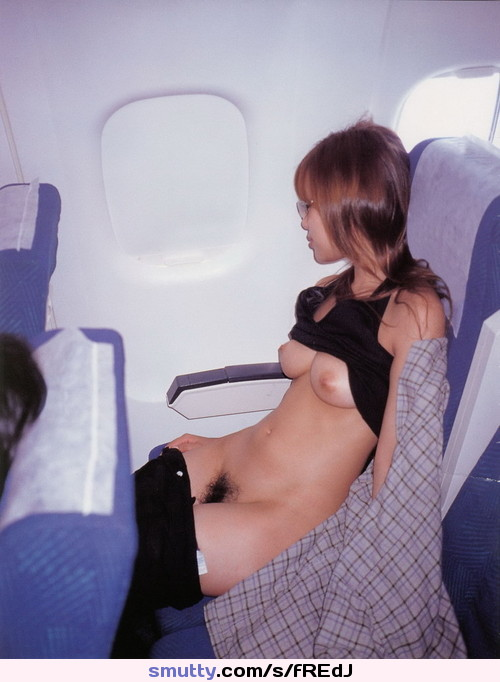 tits on an airplane