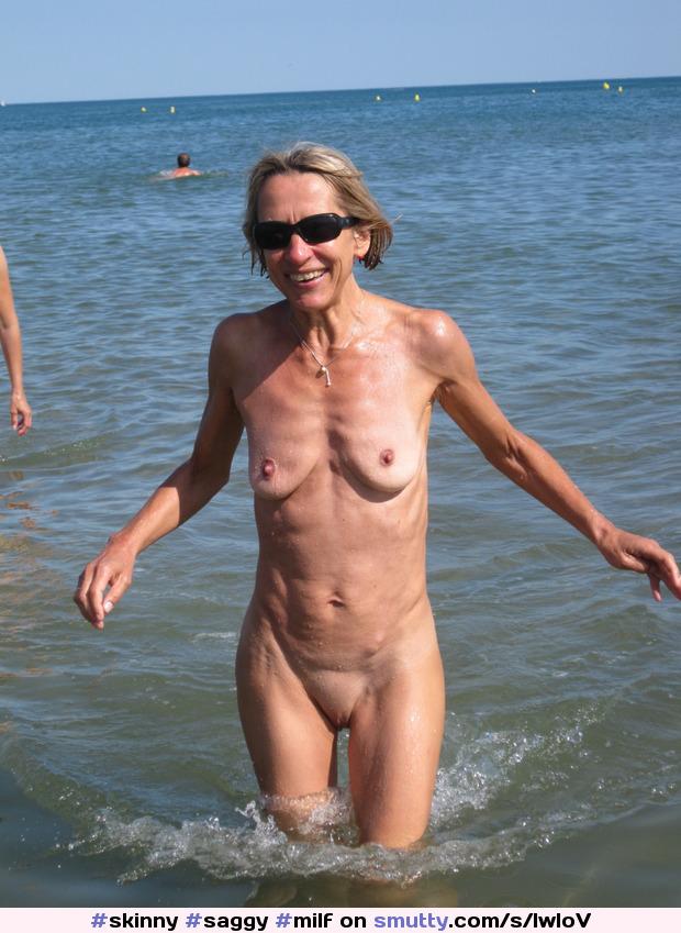 Congratulate, mature saggy tits at beach think