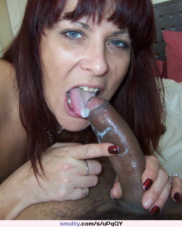 Interracial Mature Blowjobs 35