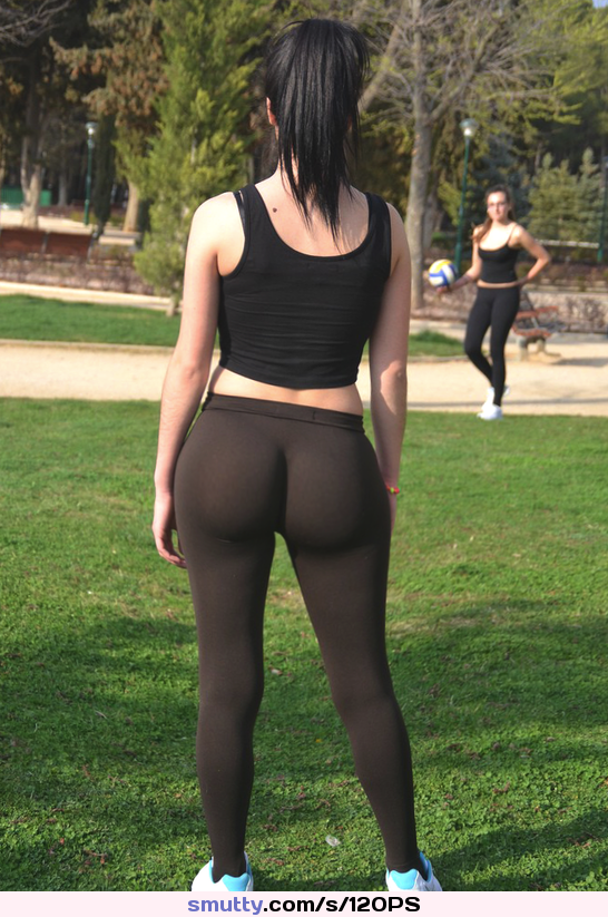 pawg tights in black spandex 2