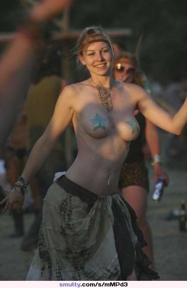 Topless at concert