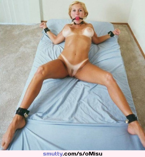 Sexy Naked Tied Spreadeagled Bed Pictures