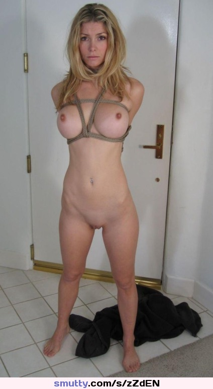 Tied shaved mature asian